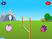 Смешарики играют в волейбол