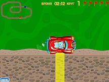 Смешарики на гоночных автомобилях