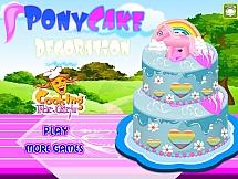 Праздничный торт с пони