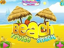 Фруктовые закуски на пляже