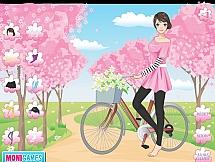 Поездка на велосипеде весной
