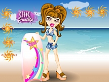 Девчонка Братц на серфинге