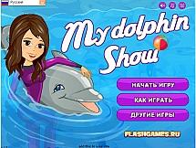 Дельфин показывает шоу